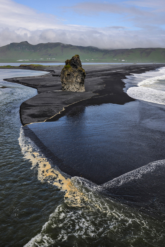 Black Beach, Vik, Iceland by Chris Gibbins