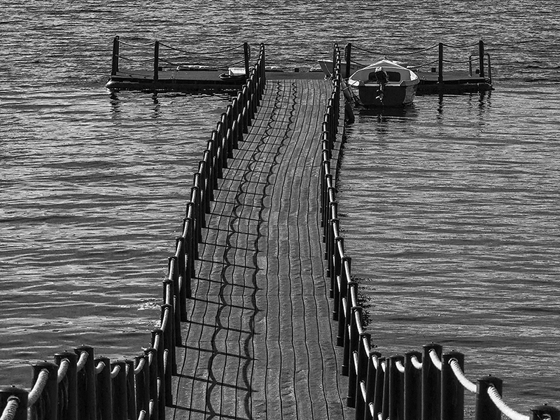Jetty on Loch Na Keal by Peter Phillips