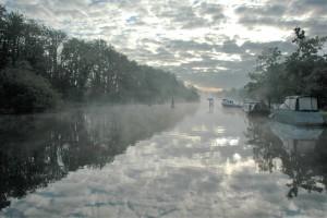 Misty morning Abingdon lock_Felicity Jenkins