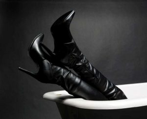 Boots in the Bath by Robert Blades